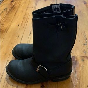 Frye black engineer boots size 7.5